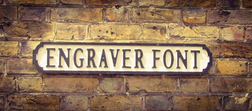 Engraver Font Personalised Street Sign  (1 Sign)